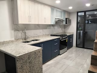 Mystica Cocinas y Closets KitchenBench tops Granit White