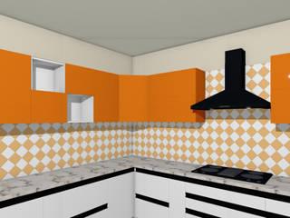 royal kitchen interior 置入式廚房 合板 White