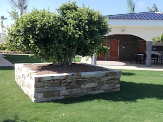 Ajardinamiento de chalet particular en Alicante JARDINERIA POZO S.L. Jardines con piedras
