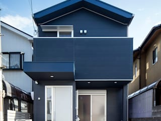 一級建築士事務所アトリエm Scandinavian style walls & floors Metal Blue