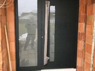 Der Schreinermeister pintu depan Aluminium/Seng Grey