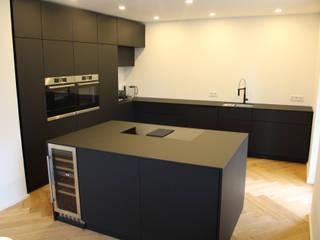 Der Schreinermeister KitchenBench tops Kayu Buatan Black