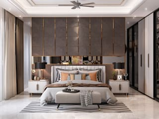 Bedroom HC Designs BedroomBeds & headboards Wood Grey