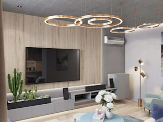 Modern & Minimalistic Home Interior HC Designs Living roomAccessories & decoration Wood White