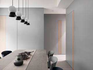 知域設計 Scandinavian style dining room Grey