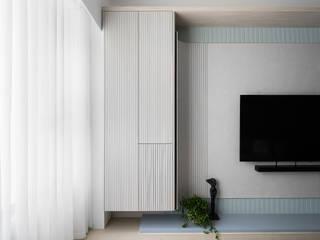知域設計 Scandinavian style living room Blue