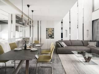 Salas de jantar modernas por 大也設計工程有限公司 Dal DesignGroup Moderno