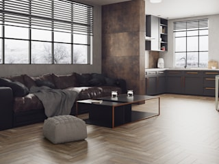 Domni.pl - Portal & Sklep Modern Living Room Ceramic Brown