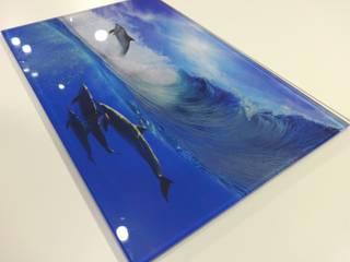 Pavlin Art BañosDecoración Vidrio Azul