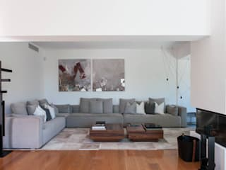 Moradia | Paço D'Arcos | Portugal Atelier Renata Santos Machado Salas de estar modernas