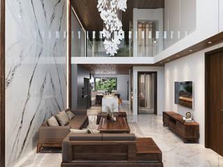 Singapore Carpentry Interior Design Pte Ltd 客廳 木頭 Wood effect