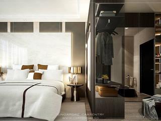 Singapore Carpentry Interior Design Pte Ltd 臥室 木頭 White