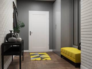 Domni.pl - Portal & Sklep Modern Corridor, Hallway and Staircase Ceramic Grey