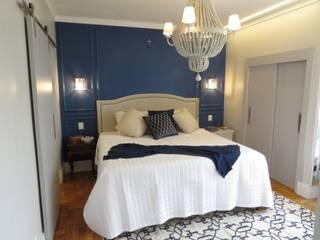 Arquitetura Minuto Colonial style bedroom Wood Blue