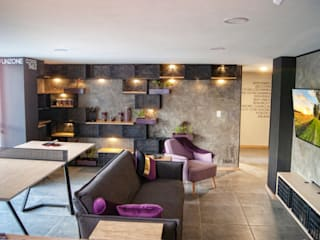 G._ALARQ + TAGA Arquitectos Salones de estilo moderno