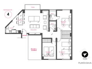 G._ALARQ + TAGA Arquitectos Modern style study/office