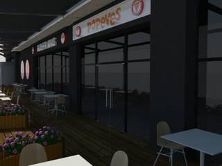 Burger King Bursa Endülüs Park Raylı Tente Projesi Buga Mimarlık Tasarım Dekorasyon Kış Bahçesi & Cam Tavan Sistemleri Modern