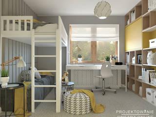 Pokój dziecięcy z łóżkiem na antresoli Projektowanie Wnętrz Online Pokój dla dziwczynki