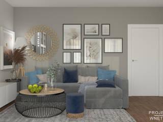 Aranżacja salonu IKEA Projektowanie Wnętrz Online Skandynawski salon