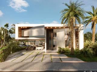 Camila Pimenta | Arquitetura + Interiores Rumah teras Kayu Beige