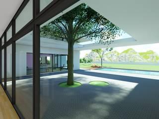 DYOV STUDIO Arquitectura. Concepto Passivhaus Mediterráneo. 653773806 Balcone, Veranda & Terrazza in stile mediterraneo Calcare Bianco