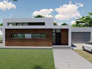 DYOV STUDIO Arquitectura. Concepto Passivhaus Mediterráneo. 653773806 Single family home Limestone White
