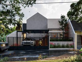 Rancang Reka Ruang Maison individuelle Briques Gris