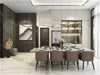 Singapore Carpentry Interior Design Pte Ltd 餐廳 大理石 White