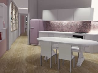 ROBERTA DANISI architetto Built-in kitchens Pink