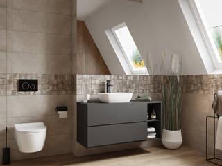 Opoczno Nerina Slash - aranżacja łazienki na poddaszu Nowoczesna łazienka od Domni.pl - Portal & Sklep Nowoczesny