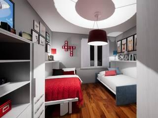 Progetto di una nuova cameretta Silvia Camporeale Interior Designer Camera da letto piccola Legno composito Bianco