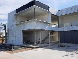 ALUCO SOLUCIONES Modern offices & stores Aluminium/Zinc Black
