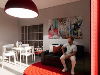 Silvia Camporeale Interior Designer 餐廳 鐵/鋼 White