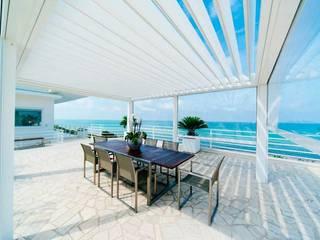 Rolling Roof Projesi Tente Çeşitleri Buga Mimarlık Tasarım Dekorasyon Kış Bahçesi & Cam Tavan Sistemleri Modern