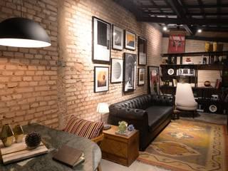 DCC by Next arquitetura Livings de estilo industrial Ladrillos Beige