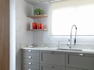 DCC arquitetura Kitchen units Grey
