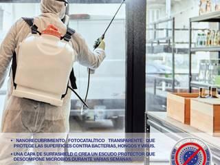 Destruye patógenos y elimina contaminantes del aire en interiores Nanoavant SL Bares y clubs de estilo moderno Transparente