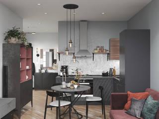 Воображение с этническими мотивами. Студия NATALYA SOLNTSEVA Interiors Design Кухни в эклектичном стиле МДФ Черный