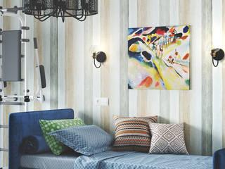 Красочный и спокойный. Проект интерьера детской комнаты. Студия NATALYA SOLNTSEVA Interiors Design Спальни для мальчиков МДФ Многоцветный