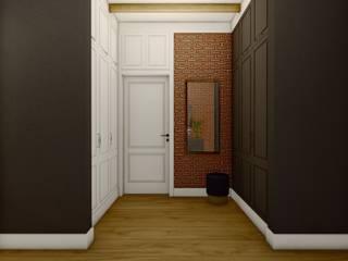 STTYK - Pracownia Architektury Wnętrz i Krajobrazu Modern Corridor, Hallway and Staircase