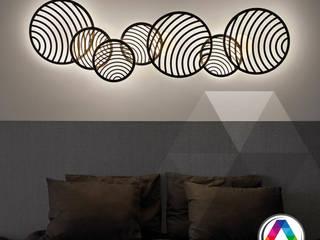 Dormitorios ¡Ilumínalos con estilo y diseño! La Casa de la Lámpara Hoteles de estilo moderno