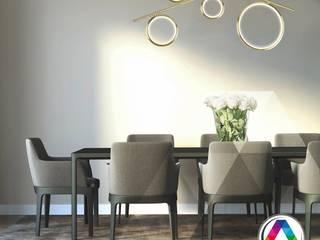 Iluminación para el comedor La Casa de la Lámpara Hoteles de estilo moderno