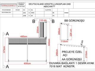 Raylı Tente Pergola Sistemi Frankfurt Almanya Projesi Buga Mimarlık Tasarım Dekorasyon Kış Bahçesi & Cam Tavan Sistemleri Akdeniz
