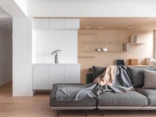 沐光絢影 文儀室內裝修設計有限公司 客廳 Wood effect