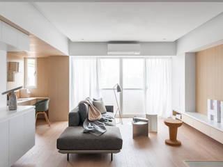 沐光絢影 文儀室內裝修設計有限公司 客廳 White