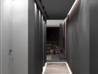 Apartment 312 Deev Design Moderne gangen, hallen & trappenhuizen