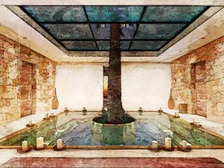 Casa Templo Egipcio Antiguo AND3D Spa de estilo mediterráneo
