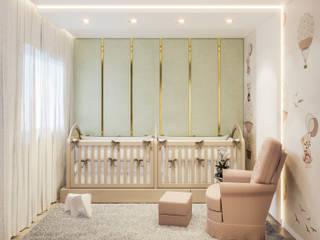 Camila Pimenta | Arquitetura + Interiores Cuarto del bebé Madera Beige