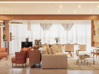 Camila Pimenta | Arquitetura + Interiores Salas de estilo moderno Madera Acabado en madera