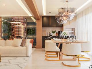Camila Pimenta | Arquitetura + Interiores Comedores de estilo moderno Madera Beige